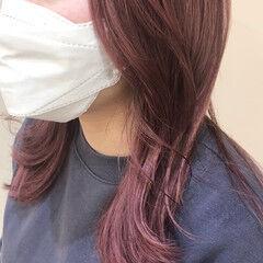 ベリーピンク ガーリー ピンク ピンクパープル ヘアスタイルや髪型の写真・画像
