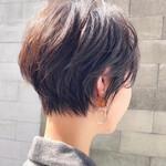 髪質改善 切りっぱなしボブ ショート ハンサムショート