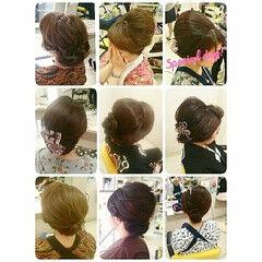和装 セミロング お祭り ゆるふわ ヘアスタイルや髪型の写真・画像