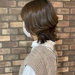 ナチュラルグラデーション スロウ ナチュラル ミディアム ヘアスタイルや髪型の写真・画像