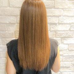 ナチュラル 大人ロング ロング 縮毛矯正 ヘアスタイルや髪型の写真・画像