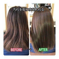 ナチュラル 名古屋市守山区 ロング 髪質改善 ヘアスタイルや髪型の写真・画像