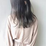 暗髪 透明感 ダメージレス ツヤ髪