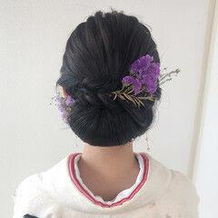 ロング 成人式ヘア エレガント ヘアセット ヘアスタイルや髪型の写真・画像