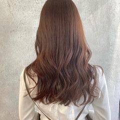 イルミナカラー ロング ブリーチなし ココアブラウン ヘアスタイルや髪型の写真・画像
