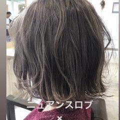 ボブ ニュアンスヘア ショートボブ ナチュラル ヘアスタイルや髪型の写真・画像