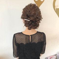 デート ヘアアレンジ 結婚式 セミロング ヘアスタイルや髪型の写真・画像