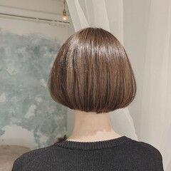 大人かわいい エレガント ハイライト ボブ ヘアスタイルや髪型の写真・画像
