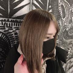 ハイトーン 派手髪 ナチュラル シナモンベージュ ヘアスタイルや髪型の写真・画像