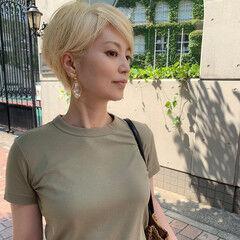 白髪染め 大人ショート 大人女子 エレガント ヘアスタイルや髪型の写真・画像