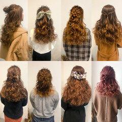 ヘアアレンジ ヘアセット フェミニン ねじり ヘアスタイルや髪型の写真・画像