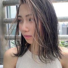阿藤俊也 ハイライト スライシングハイライト ボブ ヘアスタイルや髪型の写真・画像