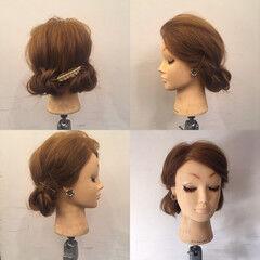 ヘアアレンジ パーティ セルフヘアアレンジ セミロング ヘアスタイルや髪型の写真・画像