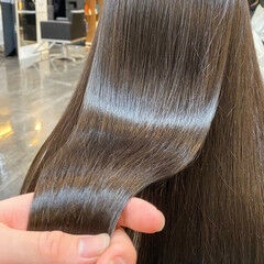 髪質改善トリートメント ストレート ナチュラル 髪質改善 ヘアスタイルや髪型の写真・画像