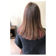 フェミニン ピンク 透明感 大人かわいい ヘアスタイルや髪型の写真・画像