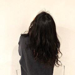 簡単 セミロング 外国人風 ナチュラル ヘアスタイルや髪型の写真・画像