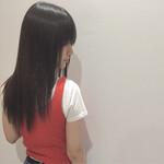 セミロング 縮毛矯正 ナチュラル 艶髪