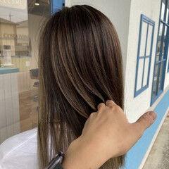 透明感カラー おしゃれさんと繋がりたい セミロング あざとい ヘアスタイルや髪型の写真・画像