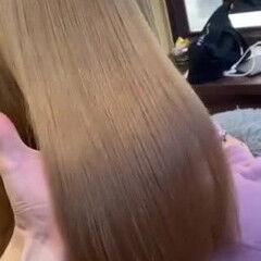 ガーリー セミロング シアーベージュ ヌーディベージュ ヘアスタイルや髪型の写真・画像