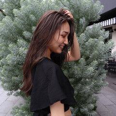 3Dハイライト 外人ヘア ナチュラル ロング ヘアスタイルや髪型の写真・画像
