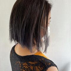 ミディアム 圧倒的透明感 イルミナカラー 巻き髪 ヘアスタイルや髪型の写真・画像