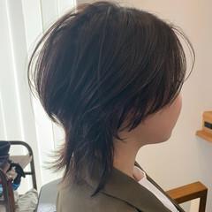 ショート マッシュウルフ ショートヘア ウルフカット ヘアスタイルや髪型の写真・画像