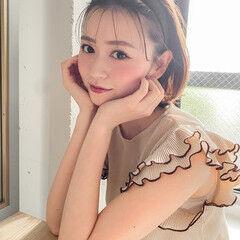 外国人風 ベリーショート 透明感カラー カチューシャ ヘアスタイルや髪型の写真・画像