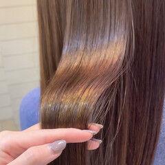 ツヤ髪 髪質改善トリートメント ロング ナチュラル ヘアスタイルや髪型の写真・画像