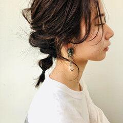 ミディアム ナチュラル N.オイル ヘアアレンジ ヘアスタイルや髪型の写真・画像