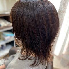 ガーリー ミディアム 髪質改善カラー 外ハネ ヘアスタイルや髪型の写真・画像