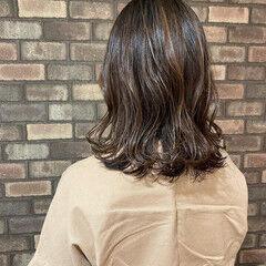 大人ミディアム 韓国風ヘアー ミディアム 透明感 ヘアスタイルや髪型の写真・画像