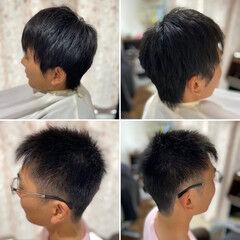 ツーブロック フェードカット メンズショート ショートヘア ヘアスタイルや髪型の写真・画像