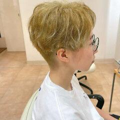 マッシュ ストリート ショートヘア ブリーチ ヘアスタイルや髪型の写真・画像