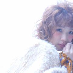 小顔 かわいい ボブ ガーリー ヘアスタイルや髪型の写真・画像