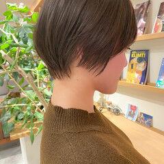 ショート ナチュラル 透明感カラー ショートボブ ヘアスタイルや髪型の写真・画像