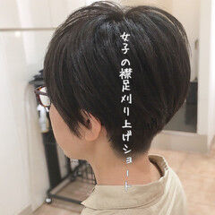 刈り上げショート 刈り上げ女子 ナチュラル 刈り上げ ヘアスタイルや髪型の写真・画像