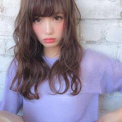前髪 コテ巻き スタイリング コンサバ ヘアスタイルや髪型の写真・画像