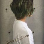 色気 渋谷系 グラデーションカラー ショート