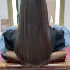 ナチュラル 可愛い 艶髪 ロング ヘアスタイルや髪型の写真・画像