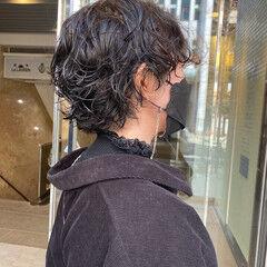 ウルフカット モード ショート マッシュウルフ ヘアスタイルや髪型の写真・画像