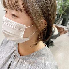 ボブ 韓国風ヘアー ナチュラル 韓国ヘア ヘアスタイルや髪型の写真・画像