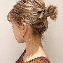 ボブ ミルクティーベージュ ボブアレンジ ナチュラル ヘアスタイルや髪型の写真・画像
