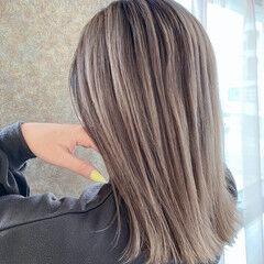 エレガント ブリーチカラー エアータッチ ダブルブリーチ ヘアスタイルや髪型の写真・画像