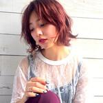 前髪あり ピンク ミディアム モード