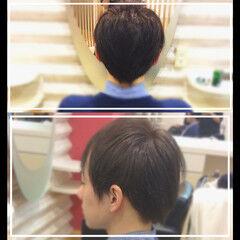 メンズスタイル ナチュラル ショート オフィス ヘアスタイルや髪型の写真・画像