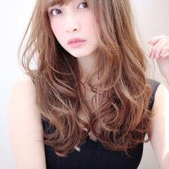 ロングヘアスタイル エレガント 小顔ヘア 大人ヘアスタイル ヘアスタイルや髪型の写真・画像