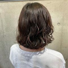 外ハネボブ デジタルパーマ  ナチュラル ヘアスタイルや髪型の写真・画像