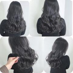 最新トリートメント ダークカラー ロング 暗髪女子 ヘアスタイルや髪型の写真・画像
