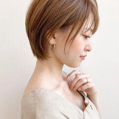 大人かわいい ひし形 大人女子 ショートヘア ヘアスタイルや髪型の写真・画像