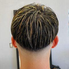 スキンフェード メッシュ ブリーチカラー ヘアカラー ヘアスタイルや髪型の写真・画像